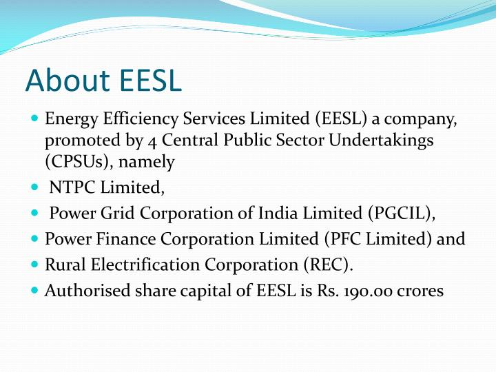 About EESL