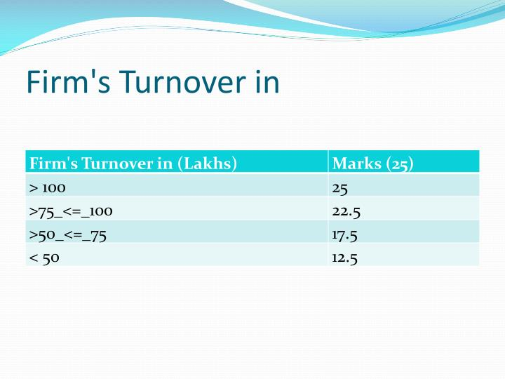 Firm's Turnover in