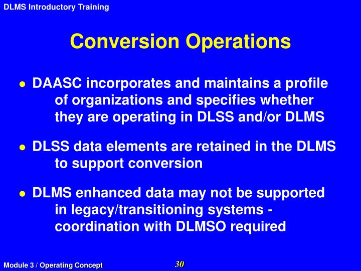 Conversion Operations