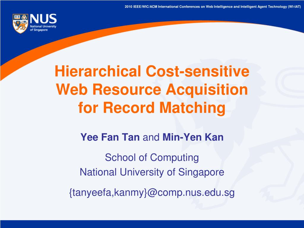 hierarchical cost sensitive web resource acquisition for record matching l.