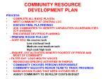 community resource development plan