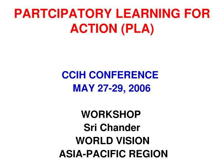 partcipatory learning for action pla