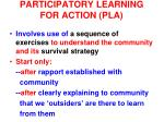 participatory learning for action pla1