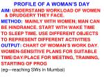 profile of a woman s day