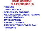 some common pla exercises 1