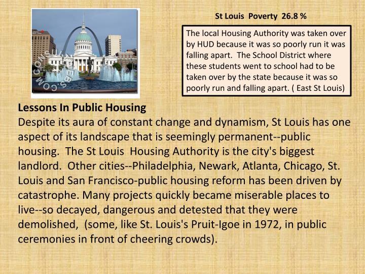 St Louis  Poverty  26.8 %