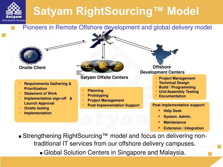 Satyam RightSourcing™ Model