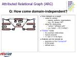 attributed relational graph arg