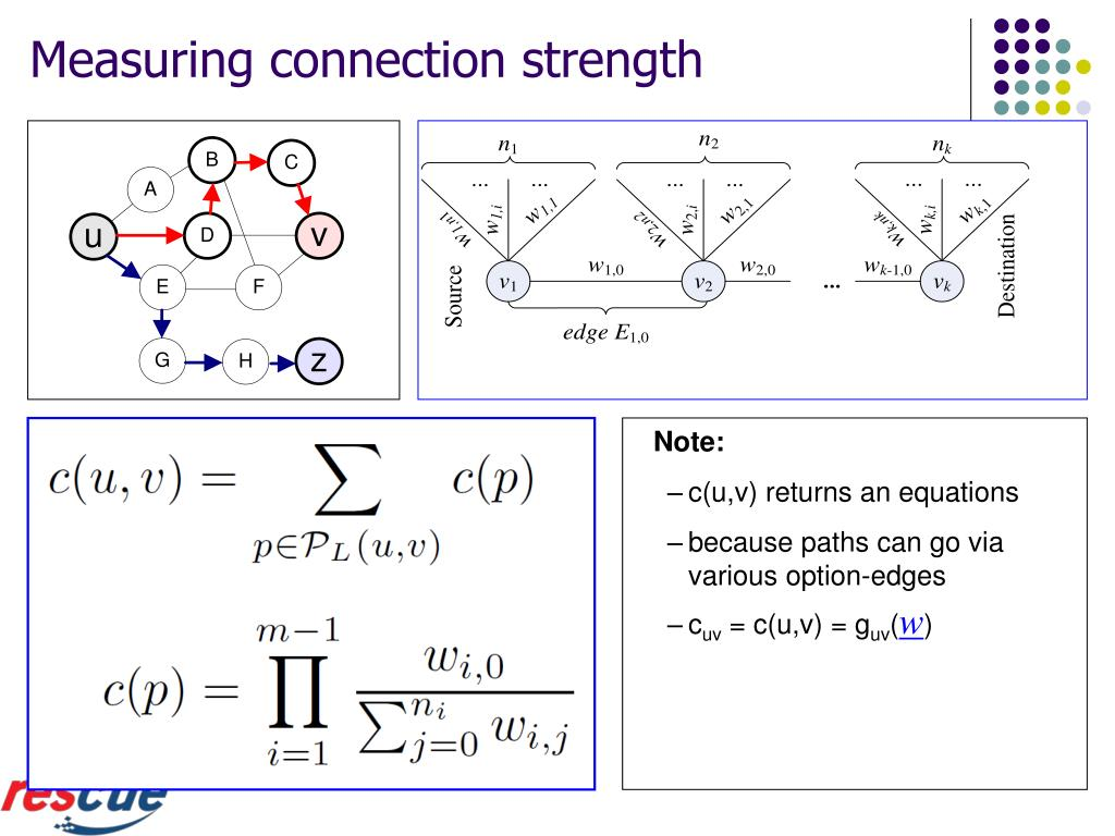Measuring connection strength
