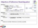 objective of reference disambiguation