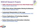rescue research projects