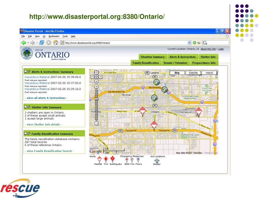 http://www.disasterportal.org:8380/Ontario/
