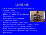 livelihoods