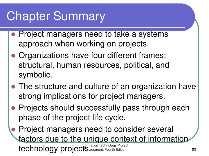 PPT - Chapter 2 : The Project Management and Information Technology ...