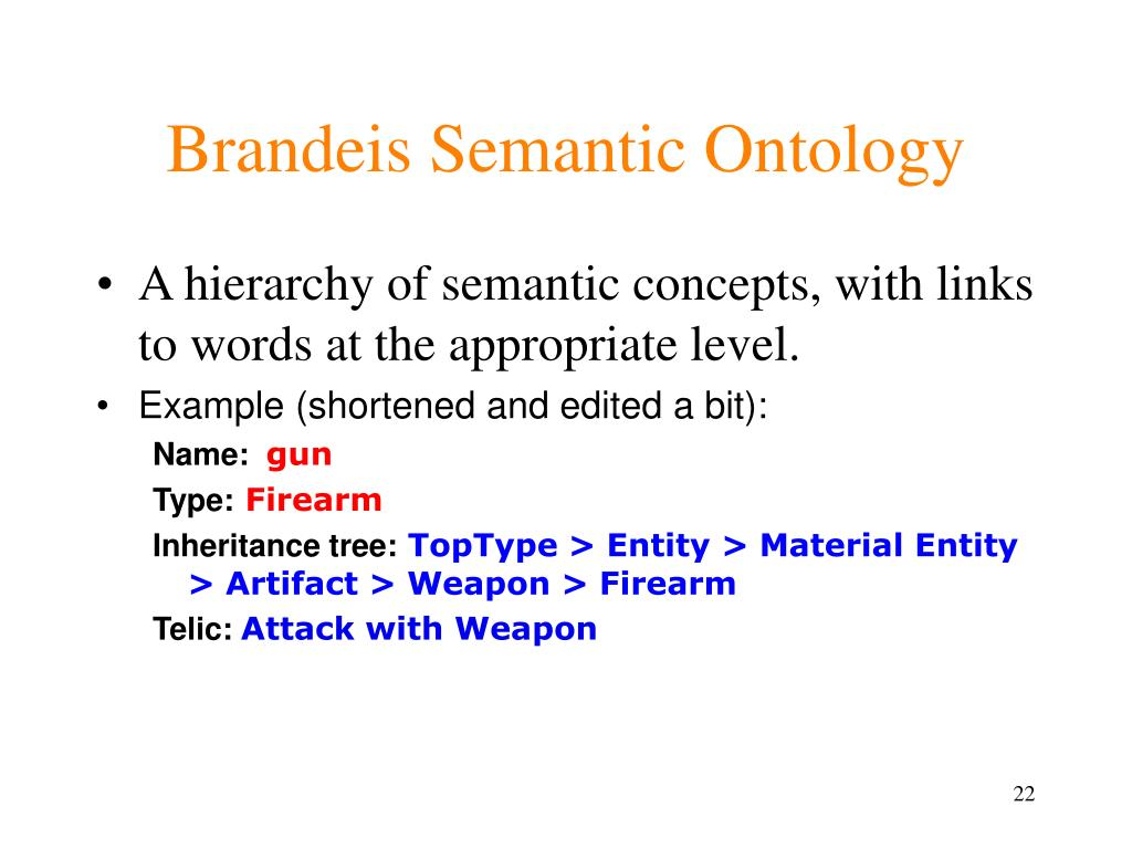 Brandeis Semantic Ontology