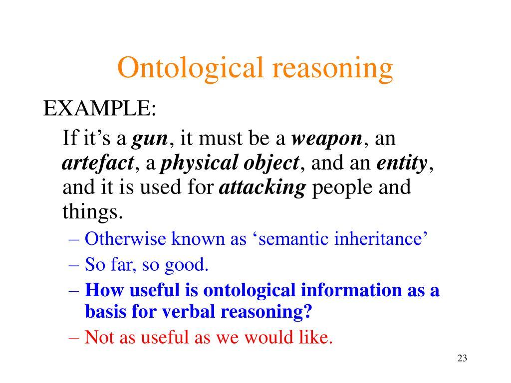 Ontological reasoning