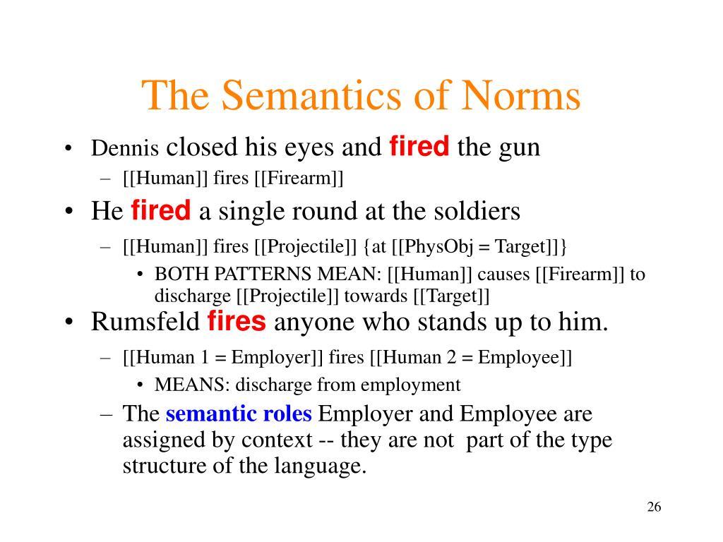 The Semantics of Norms