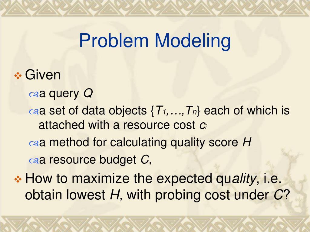 Problem Modeling