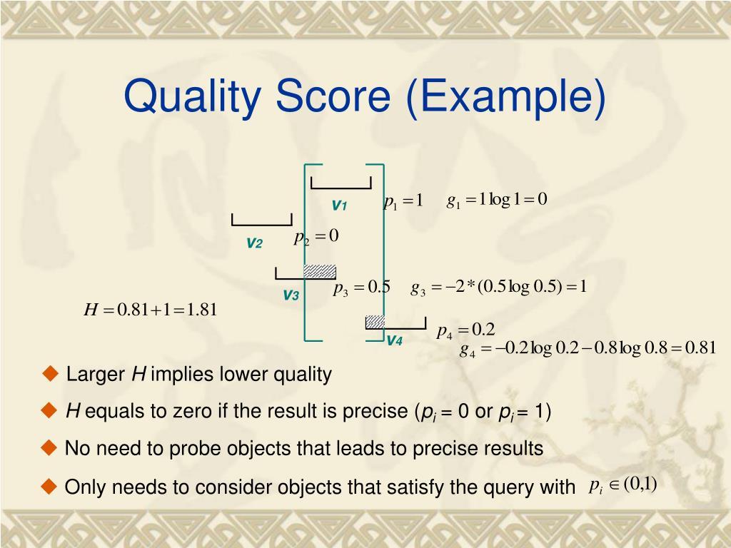 Quality Score (Example)