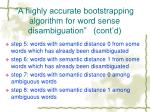 a highly accurate bootstrapping algorithm for word sense disambiguation cont d