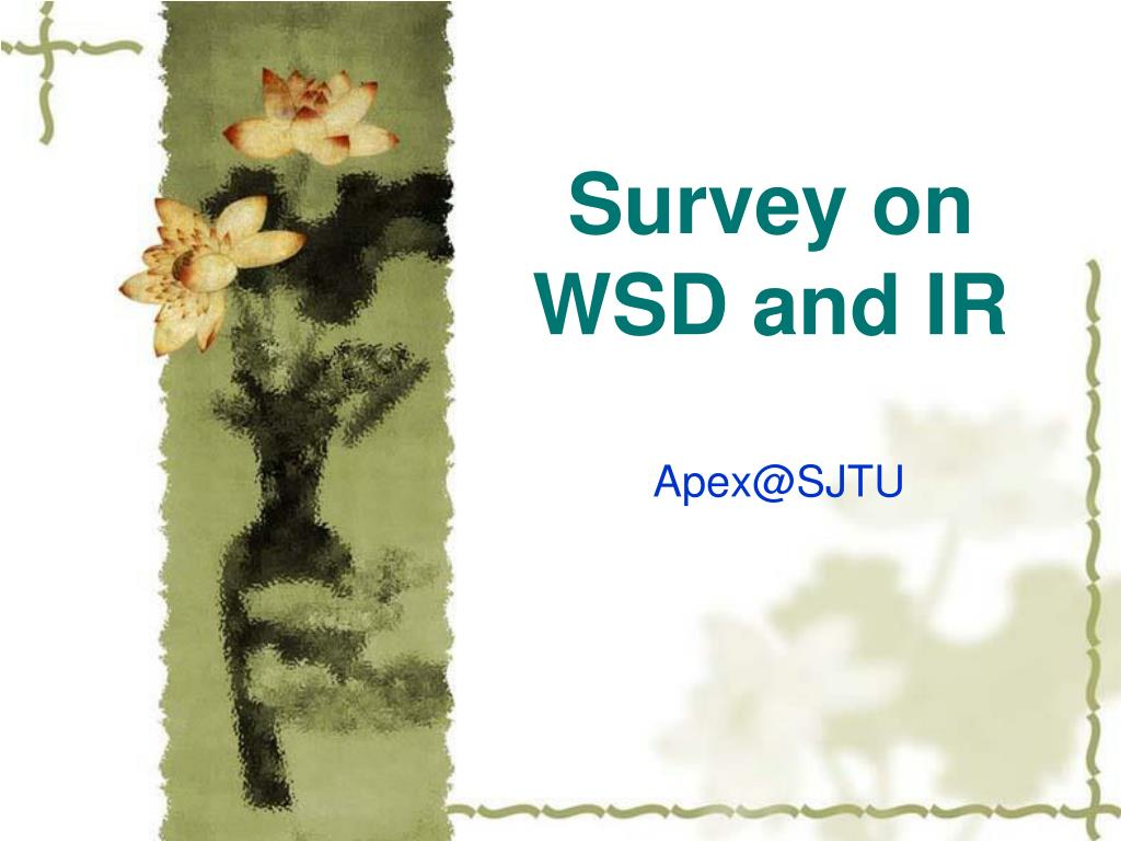 survey on wsd and ir l.