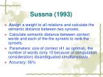 sussna 1993