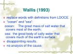wallis 1993