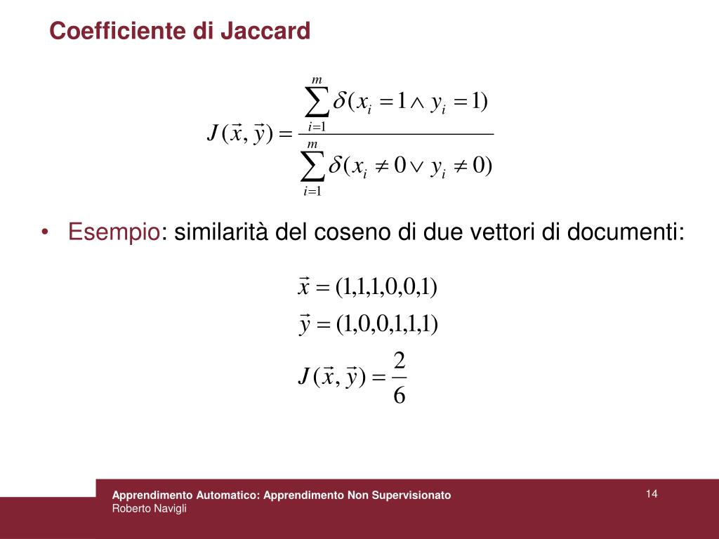 Coefficiente di Jaccard