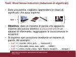 task word sense induction induzione di significati
