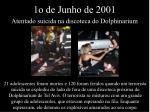 1o de junho de 2001