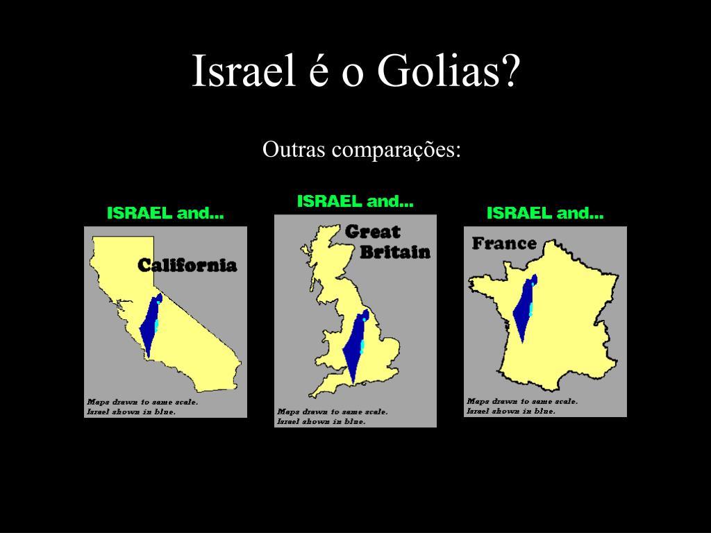 Israel é o Golias?