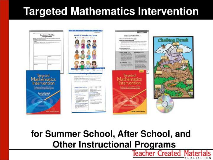 Targeted Mathematics Intervention