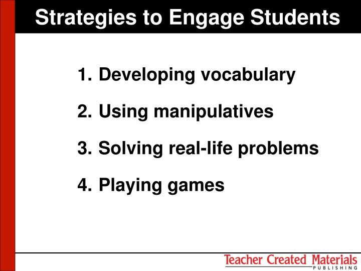 Strategies to Engage Students