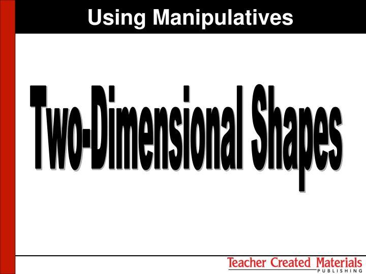 Using Manipulatives