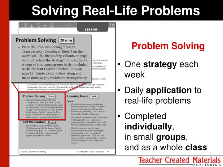 Solving Real-Life Problems