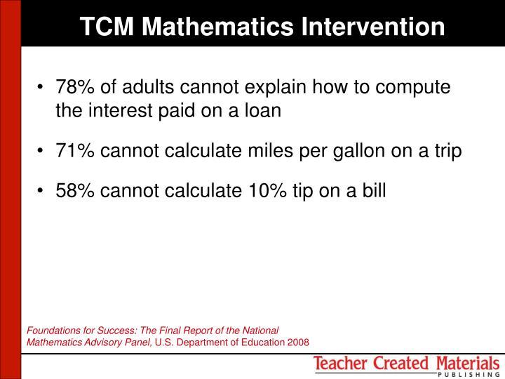 TCM Mathematics Intervention