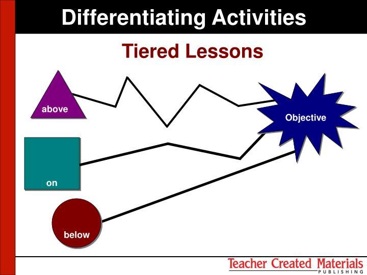 Differentiating Activities