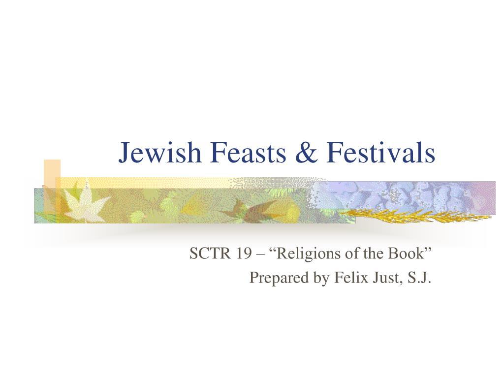 jewish feasts festivals l.