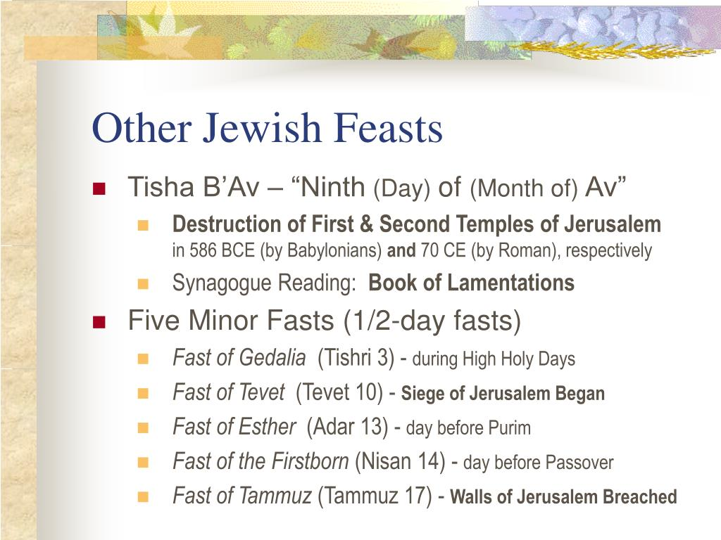 Other Jewish Feasts