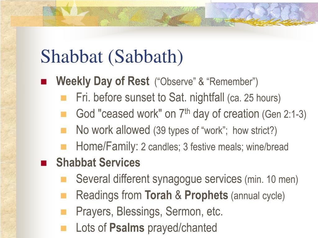 Shabbat (Sabbath)
