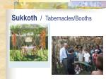 sukkoth tabernacles booths