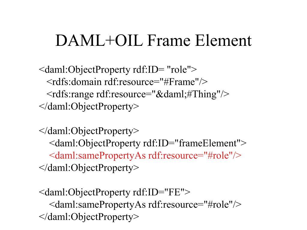 DAML+OIL Frame Element
