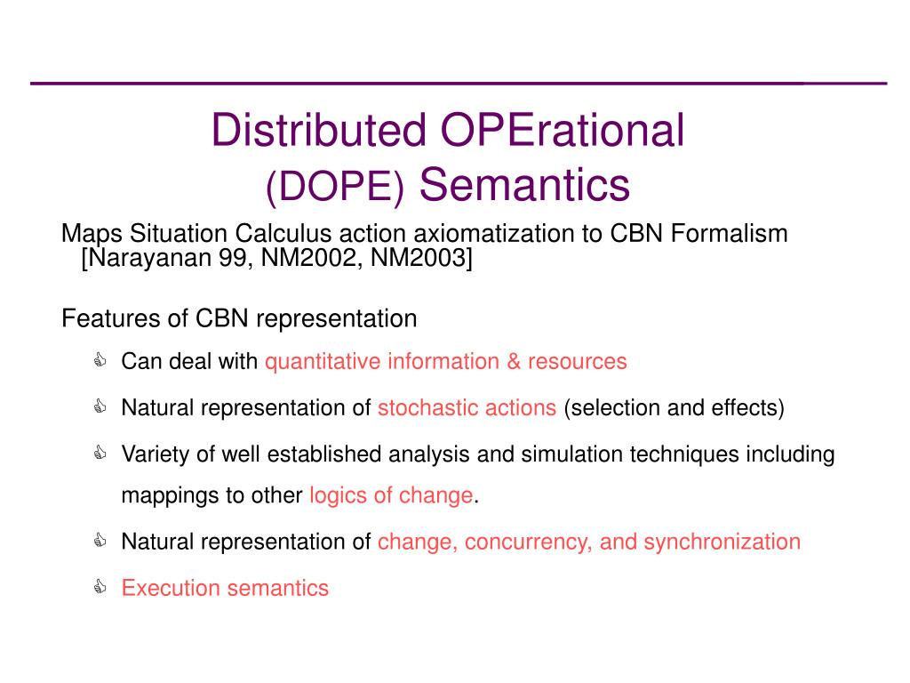 Distributed OPErational
