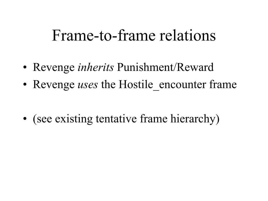Frame-to-frame relations