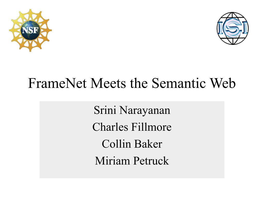 framenet meets the semantic web l.