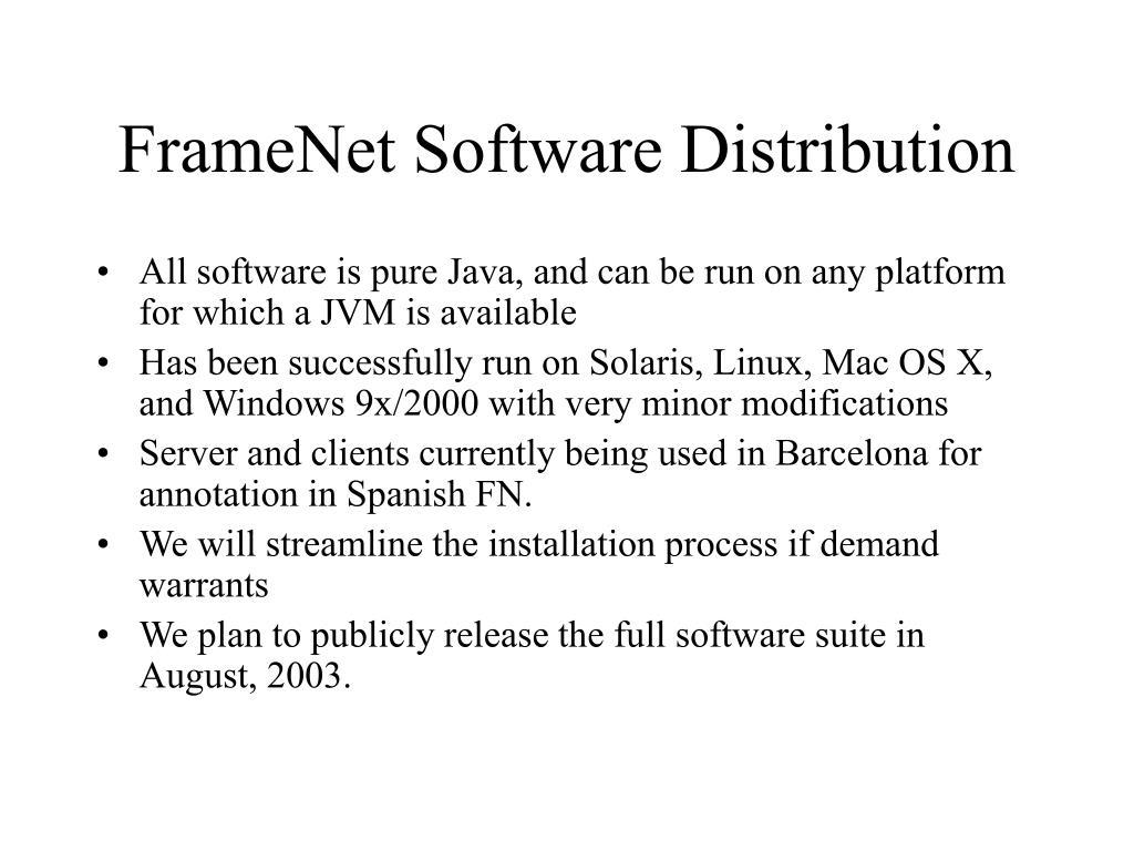 FrameNet Software Distribution