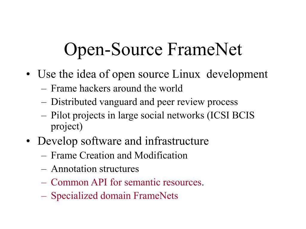 Open-Source FrameNet