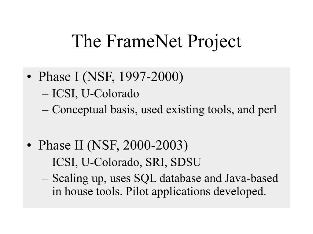 The FrameNet Project