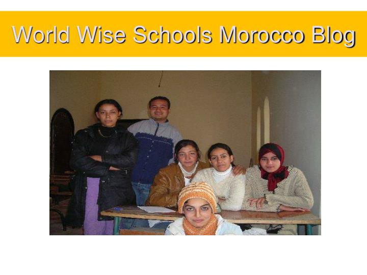 World Wise Schools Morocco Blog