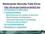 homeowner security task force